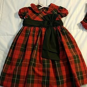 Like new Ralph Lauren Christmas Plaid Tie dress